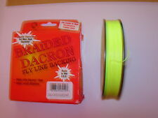WESTERN FILAMENT BRAIDED DACRON FLY LINE BACKING 100yds CHARTREUSE 20lb or 30lb