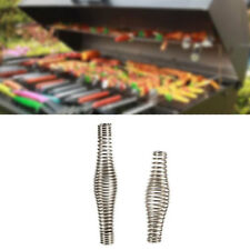 "4.3""/ 5.5"" Stainless Steel Spring Handle BBQ Grill Wood Furnace Stove Smoker"