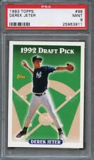 1993 topps #98 DEREK JETER new york yankees rookie card PSA 9