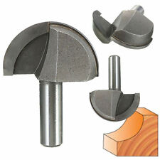 "1/2'' Shank 2"" Diameter Round Nose Cove Core Box Router Bit Wood Cutter Tool New"
