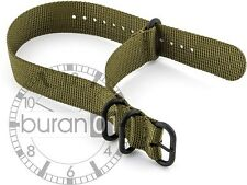 22mm watch bands- ZULU PVD Watch Strap Nylon olive green