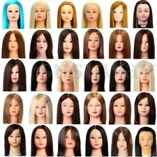 Hairdressing Practice Training Head Human Hair Makeup Mannequin Doll & Clamp