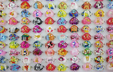Wholesale Jewelry Mixed Lots 20pcs Resin Lucite Child Heart Cartoon Rings