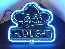 "SD235 George Strait Bud Light Beer Bar Pub Display Neon Light 3D Sign 11""x10"""