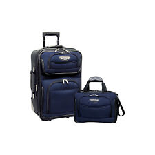Traveler's Choice Amsterdam 2-Piece Carry-On Luggage Luggage Set NEW