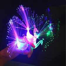 Finger Light Up Ring Laser LED Party Rave Favors Glow Beams Peacock Kid Toy Gift