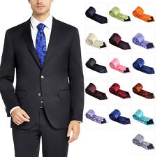 Polyester Paisley Tie Men Necktie Classic Jacquard Woven Neck Ties Business