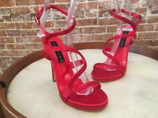 Steve Madden Red Satin Jeweled Wiccked Party Sandals New