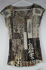 """Pleated Top-Cap Sleeves Animal Print 25 1/2"""" long #21-1049 100% Polyester NEW!"""