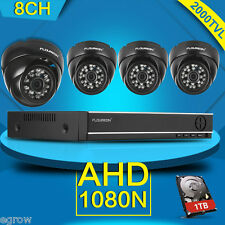8CH 1080N AHD DVR Outdoor Dome 2000TVL Home CCTV Security Camera System 1TB HDD