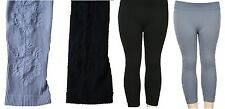 Black or Gray Floral Texture Side Footless Leggings Pants OS
