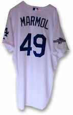 Carlos Marmol Game Used Jersey Dodgers Home White 2013 Playoff #49 MLB EK645201