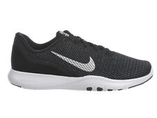 NEW WOMENS NIKE FLEX TRAINER 7 RUNNING SHOES TRAINERS BLACK / METALLIC SILVER