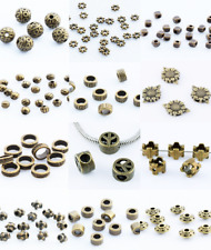 Lot Bronze Charm Loose Spacer Beads Crafts Jewelry Making DIY Necklaces Bracelet