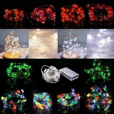 2/3/4M LEDs battery LED Copper Wire Christmas Decor Starry String Fairy Lights