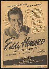 1942 Eddy Howard photo music trade booking ad