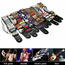 Special Colorful Electric Acoustic Guitar Straps Bass Adjustable Guitar Straps