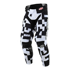 Troy Lee Designs GP Air Pants - Maze White/Black- All Youth Sizes