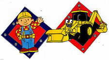 """6.5""""-10.5"""" BOB THE BUILDER TRACTOR CHARACTER WALL SAFE STICKER  BORDER CUT OUT"""