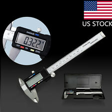LCD Stainless Steel Electronic Digital Vernier Caliper Measurement Tool US SHIP