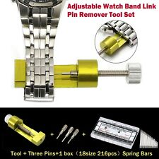 Pro Adjustable Watch Band Link Pin Remover Tool Watch Repair Tool Kit Set Gold