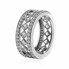 2017 Fashion 925 Sterling European Silver Ring Fit Women's Jewelry Size 6-10