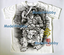 EMPEROR ETERNITY T-Shirt White M L XL MARTIAL SAMURAI LION SWORD GOLD-RED FOIL