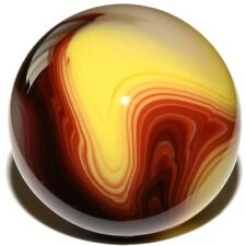 "Egg Yolk Oxblood - Mint 3/4"" Akro Agate Marble Mimic Placeholder by Carl Fisher"