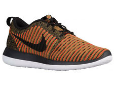 NEW MENS NIKE ROSHE TWO FLYKNIT RUNNING SHOES TRAINER BLACK / BLACK / WHITE / MA