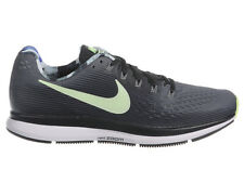 NEW MENS NIKE AIR ZOOM PEGASUS 34 RUNNING SHOES TRAINERS DARK GREY / BARELY VOLT