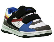 Boys Shoes Grosby Seth Hook & Loop White Multi Runners Size 5.5-9 Casual Shoe