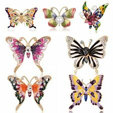 Vintage Crystal Butterfly Jewellry Women Bridal Wedding Bridal Brooches Pins New