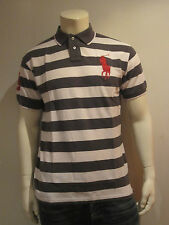 POLO RALPH LAUREN MEN POLO SHIRT [S–L XL] BIG PONY STRIPES GREY NIP