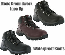 Groundwork Waterproof Full Grain Leather Trail Walking Winter Mens Boots UK7-13