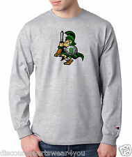 Michigan State Spartan Champion Long Sleeve T Shirt Mens New Tee