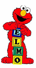 """6.5-10.5""""  SESAME STREET ELMO WALL STICKER GLOSSY BORDER CHARACTER CUT OUT"""