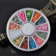 DIY Nail Art Mix Design Fimo Slices Polymer Clay Stickers Decoration Manicure