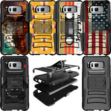 Protective Dual Layer Clip Stand Heavy Duty Case for Samsung Phone Models