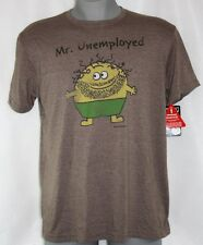 NEW Mens DAVID & GOLIATH Little Losers Mr. Unemployed Brown Tee T-Shirt