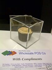 PERSPEX CLEAR ACRYLIC CAKE DISPLAY CASE BOX CAKE SEPARATOR WITH REBATED LID