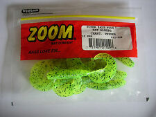 "ZOOM FAT ALBERT GRUB 3 1/4"" SOFT FISHING BAITS VARIOUS COLOURS"