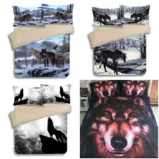 3D Wolf Double/Queen/King Size Bed Animal Doona/Quilt Cover Set Pillow cases New