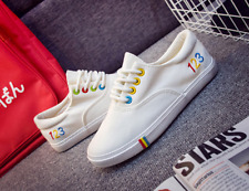 New Summer Korean Women's Lace-up Canvas Flat Casual Comfortable Shoes New