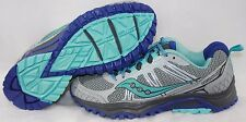 NEW Womens SAUCONY Grid Excursion TR10 Grey Purple Trail Running Sneakers Shoes