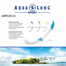 AQUA LUNG SPORT AIRFLEX LX SNORKEL TUBE ADULT M/L for SEA DIVE SWIM SNORKELING