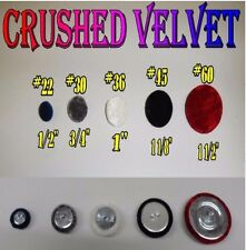 10-NEW Crushed Velvet Wire eye Buttons Upholstery NEW COLORS ADDED