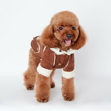 Winter Warm Coat Pet Small Large Dog Puppy Hoodie Jacket Clothes Apparel Fleece