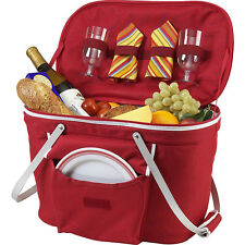 Picnic at Ascot Collapsible Insulated Picnic Basket Outdoor Cooler NEW