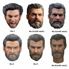 1/6 Scale Wolverine Logan Hugh Jackman Head Sculpt Carving Fit 12'' Figure Body