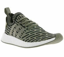 NEW adidas Originals NMD_R2 Primeknit Shoes Trainers Green BA7198